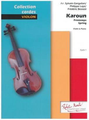 Karoun - Violon et Piano Traditionnel Partition Violon - laflutedepan