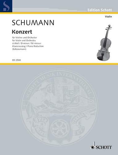 Konzert D-Moll für Violine - SCHUMANN - Partition - laflutedepan.com