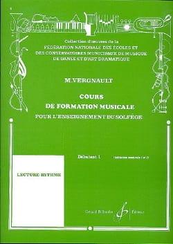 Cours de Formation Musicale - Débutant 1 Michel Vergnault laflutedepan