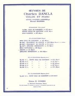 Arioso en la majeur DANCLA Partition Violon - laflutedepan