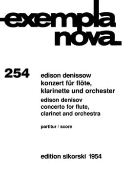 Konzert für Flöte, Klarinette und Orchester - Score laflutedepan