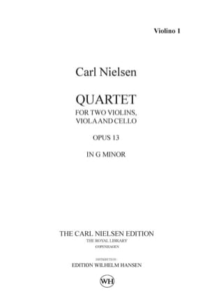 String quartet op. 13 - Parts NIELSEN Partition laflutedepan
