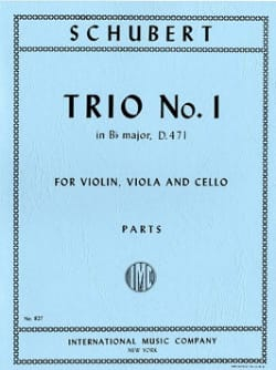 Trio n° 1 B flat major - Parts - SCHUBERT - laflutedepan.com