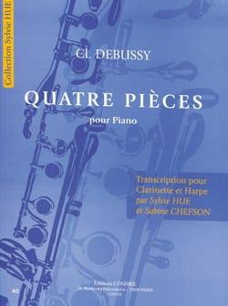 Quatre pièces DEBUSSY Partition Duos - laflutedepan