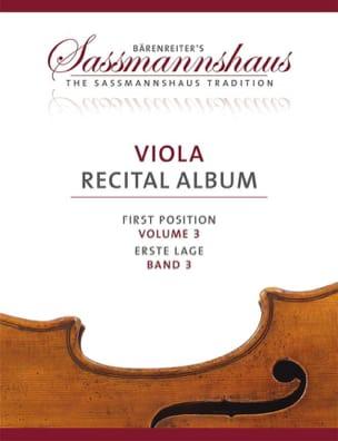 Viola Recital Album - Volume 3 sassmannshaus Partition laflutedepan