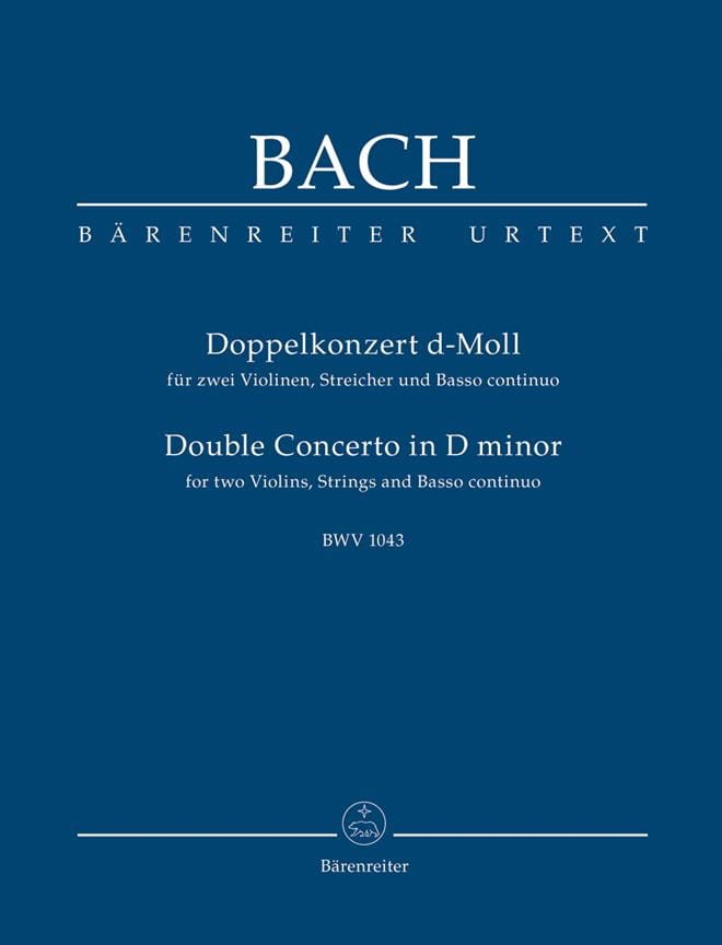 Konzert D-Moll, BWV 1043 - Conducteur - BACH - laflutedepan.com