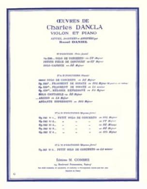 Arioso en la majeur - DANCLA - Partition - Violon - laflutedepan.com