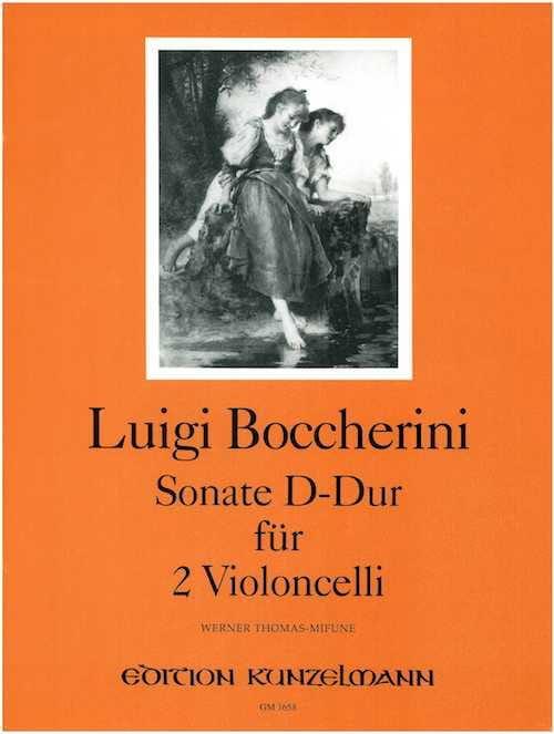 Sonate D-Dur - 2 Violoncelles - BOCCHERINI - laflutedepan.com