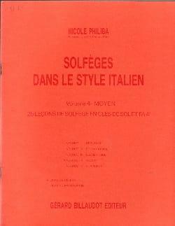 Nicole Philiba - Solfeggio Italian style - Volume 4 - Student - Partition - di-arezzo.co.uk