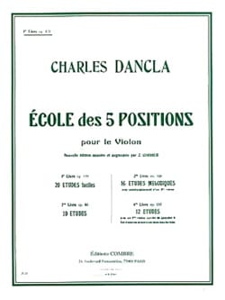 DANCLA - School of 5 positions, Volume 1 op. 122 - Partition - di-arezzo.co.uk