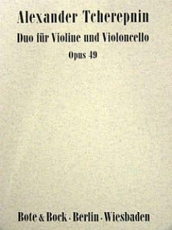 Duo op. 49 Alexandre Tcherepnine Partition 0 - laflutedepan