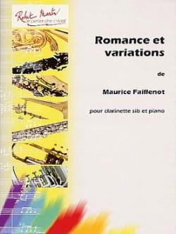 Romance et Variations Maurice Faillenot Partition laflutedepan