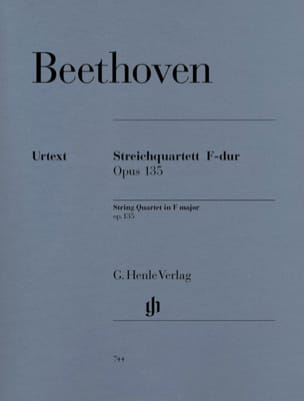 BEETHOVEN - F String Quartet op. 135 - Partition - di-arezzo.com