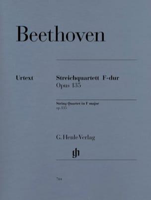 Quatuor à Cordes en Fa Majeur Op. 135 BEETHOVEN Partition laflutedepan