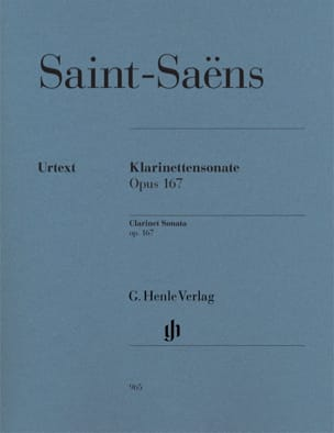 Sonate pour Clarinette op. 167 SAINT-SAËNS Partition laflutedepan