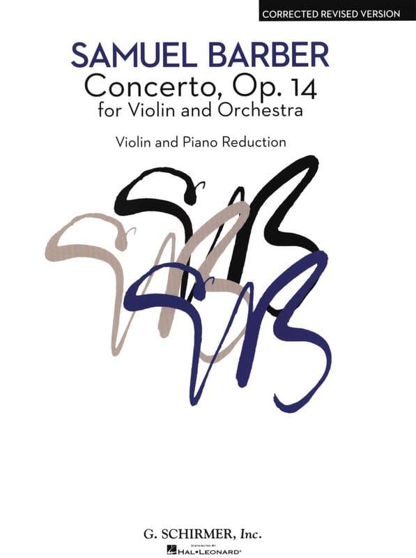 Concerto pour Violon op. 14 - BARBER - Partition - laflutedepan.com