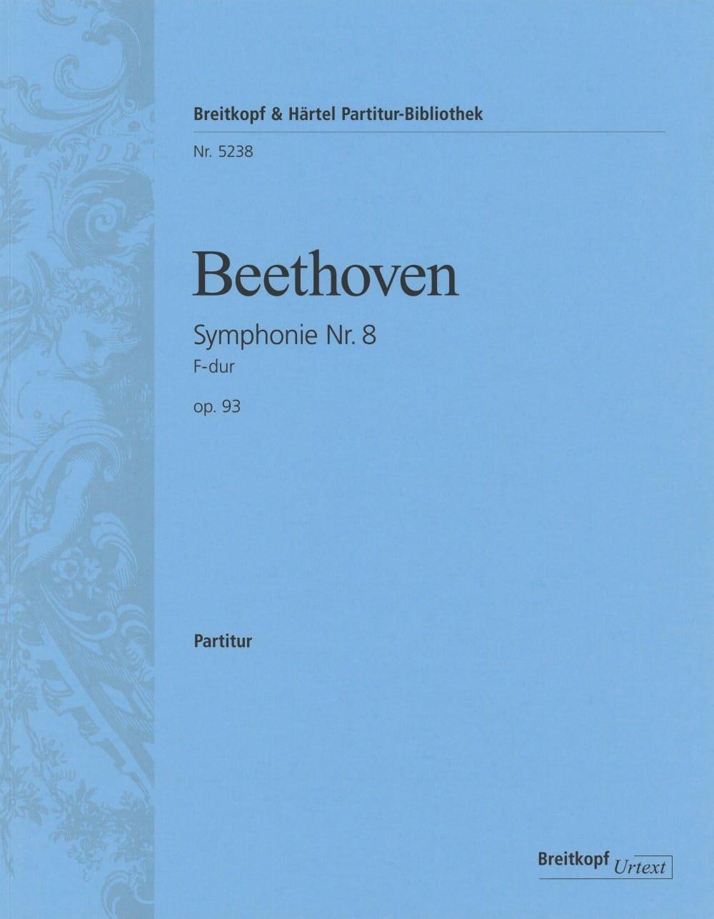Symphonie Nr. 8 F-Dur op. 93 - BEETHOVEN - laflutedepan.com
