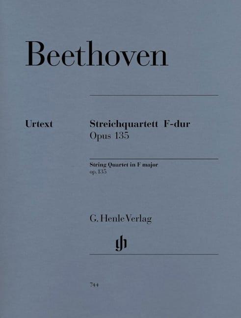 Quatuor à Cordes en Fa Majeur Op. 135 - BEETHOVEN - laflutedepan.com