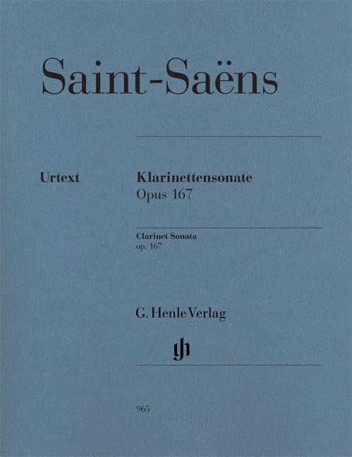 Sonate pour Clarinette op. 167 - SAINT-SAËNS - laflutedepan.be