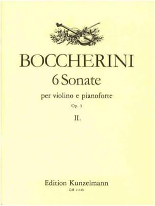 6 Sonates op. 5, Volume 2 - Violon BOCCHERINI Partition laflutedepan