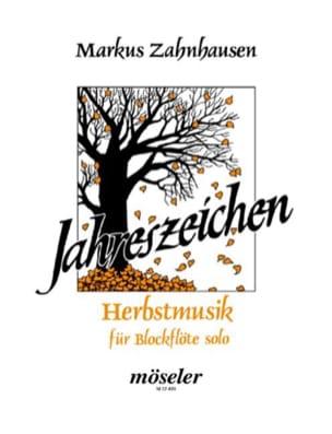 Herbstmusik - Blockflöte solo Markus Zahnhausen Partition laflutedepan