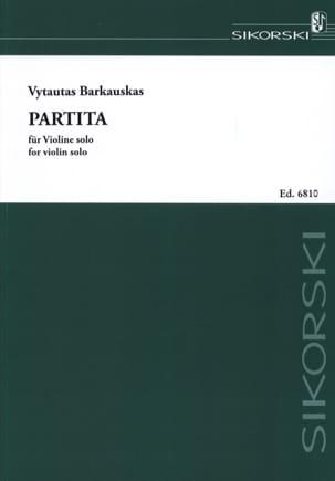 Partita Vytautas Barkauskas Partition Violon - laflutedepan