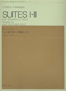 Suites n° 1-3 - alto recorder BACH Partition laflutedepan