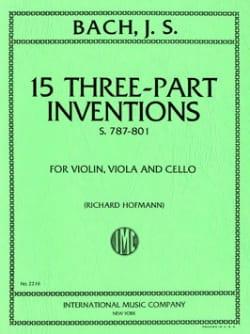15 Inventions - 3 voix BACH Partition Trios - laflutedepan