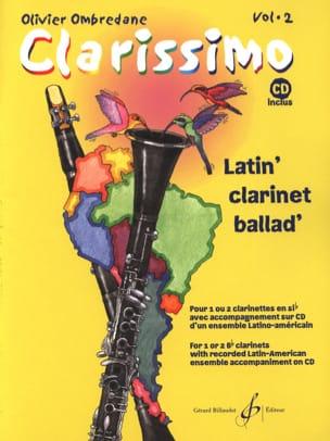 Clarissimo Vol. 2 - CD inclus Olivier Ombredane Partition laflutedepan