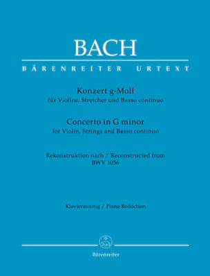 Concerto en sol mineur, d'après BWV 1056 - laflutedepan.com