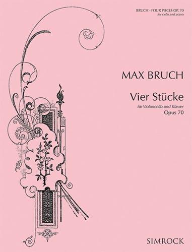 4 Stücke op. 70 - BRUCH - Partition - Violoncelle - laflutedepan.com