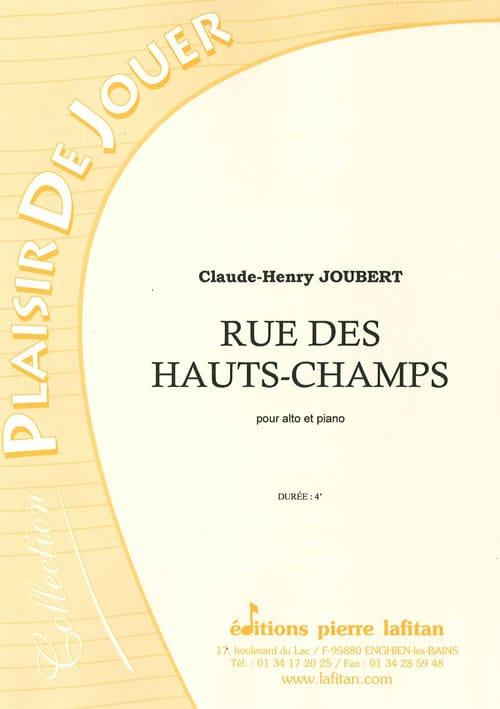 Rue des Hauts-Champs - Claude-Henry Joubert - laflutedepan.com