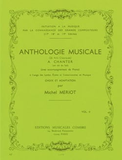 Michel Meriot - Antología Musical Volumen 2 - Partition - di-arezzo.es