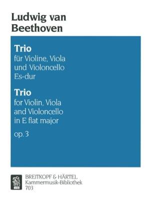 BEETHOVEN - Trio op. 3 Es-Dur - Stimmen - Partition - di-arezzo.co.uk