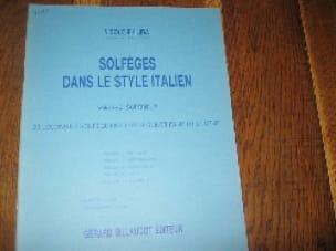 Solfèges style italien - Volume 5 - Elève - laflutedepan.com