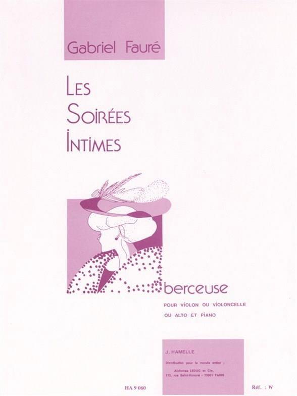Berceuse op. 16 - FAURÉ - Partition - Violon - laflutedepan.com