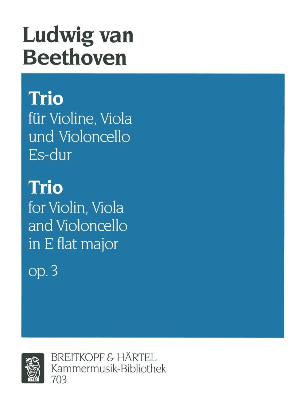 Trio op. 3 Es-Dur -Stimmen - BEETHOVEN - Partition - laflutedepan.com