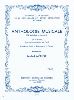 Michel Meriot - Antología musical - Volumen 3 - Partition - di-arezzo.es