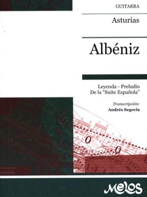 Asturias ALBENIZ Partition Guitare - laflutedepan