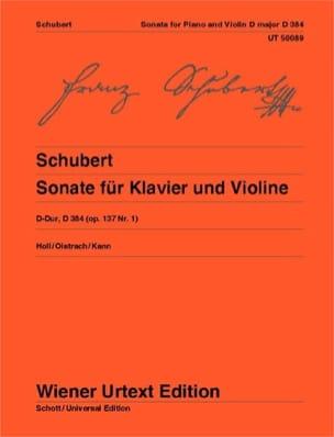 Sonate en Ré Majeur Opus 137 N° 1 - D.384 SCHUBERT laflutedepan