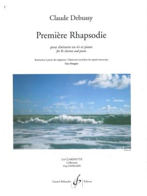 Première Rhapsodie DEBUSSY Partition Clarinette - laflutedepan