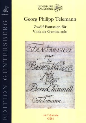 Twelve Fantasias for Viola da Gamba solo TWV 40 : 26-37 laflutedepan
