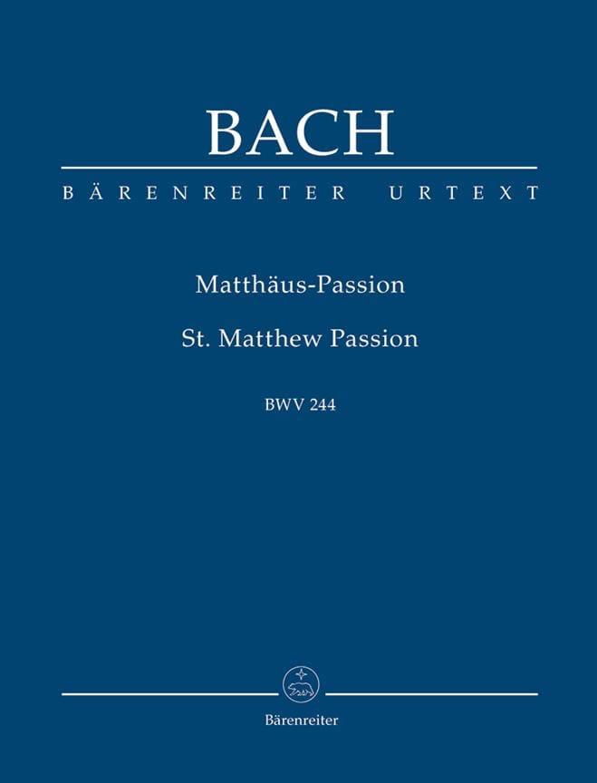 Passion selon Saint Mathieu - Urtext der Neuen Bach-Ausgabe - laflutedepan.com