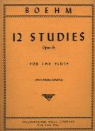 12 Studies op. 15 - Theobald Boehm - Partition - laflutedepan.com