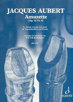 Amuzette op. 14 n° 4 Jacques Aubert Partition laflutedepan