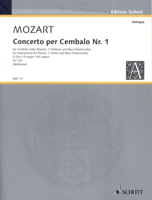 MOZART - Cembalo-Konzert Nr. 1 D-Dur - Stimmen - Partition - di-arezzo.co.uk
