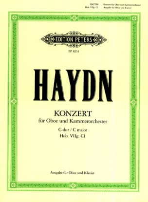 HAYDN - Oboenkonzert C-Dur Hob. 7g: C1 Oboe Klavier - Partition - di-arezzo.co.uk