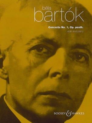 BARTOK - Concierto para violín n. ° 1 - Violín y piano - Partition - di-arezzo.es
