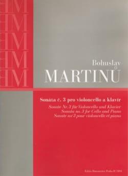 Sonate n°3 - Violoncelle et Piano MARTINU Partition laflutedepan