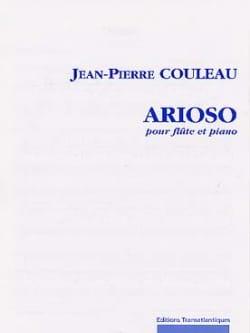 Arioso Jean-Pierre Couleau Partition Flûte traversière - laflutedepan